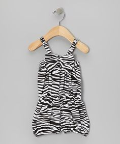 Take a look at this Black Zebra Bow Romper - Infant & Toddler by Royal Baby by Royal Gem Clothing on #zulily today!