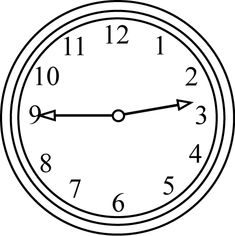 Black and White Clock Quarter to the Hour White clocks Clock Black and white