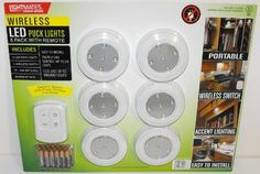 Gentil Lightmates LED Wireless Puck Lights With Remote U0026 Batteries   6 Pack By  Light Mates,  Http://www.amazon.com/dp/B007SRJME8/refu003dcm_sw_r_pi_dp_Piwasb0ASHEFF
