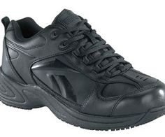 93ab024e1629 Get moving in the men s Reebok Work Jorie Sneaker. This sleek shoe features  a slip resisting outsole and EVA cushion midsole to keep you moving  comfortably.