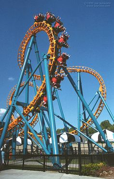 Two-Face roller coaster at Six Flags America