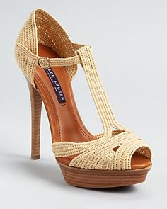 Ralph Lauren Collection Sandals - Jedina T Strap...would look so good on a pair toned, perfectly bronzed legs.