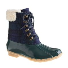 Sperry Top-Sider® for J.Crew flannel shearwater boots   boots  75b71e417d