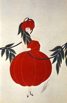 ¤ gTomato. Erté design for George White's Scandals, New York, 1926. Barbara Tims, Food in Vogue (London: Harrap in association with Condé Nast, 1976).