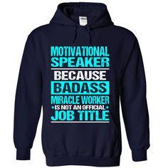 (Tshirt Design) MOTIVATIONAL-SPEAKER Badass [Tshirt design] Hoodies