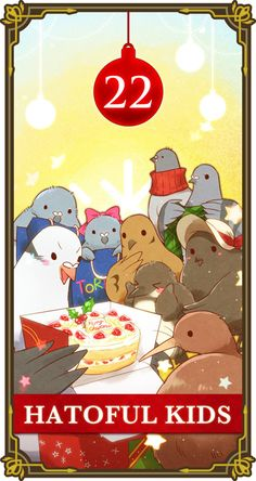 Moa's Hatoful Advent Calender Day 22 - Hatoful House Kids >>> oh look how adorable they are oH WAIT THEY'RE ALL DEAD