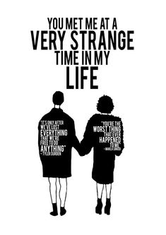Fight Club - Print - Wall Print - You met me at a very strange time in my life - Quote Print Old Movie Posters, Movie Poster Art, Quote Posters, Quote Prints, Fight Club Marla, Fight Club 1999, My Life Quotes, Movie Quotes, Fight Club Quotes