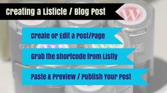 Listly / Wordpress: Integrating Lists/Listicles on Your Blog  List.ly adds to the sharing in communication, not just leaving a comment; but adding as a first class contributor to a blog.