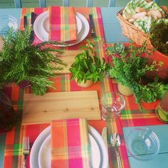Summer tablescape using herbs by P. Allen Smith