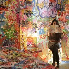 panic room. graffiti art.