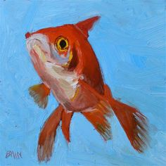 "Daily Paintworks - ""Goldfish no. 5"" - Original Fine Art for Sale - © Peter Bain"