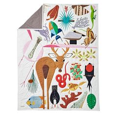 Shop Charley Harper Florida Keys Full-Queen Quilt.  Beloved wildlife artist Charley Harper helped us see the natural world in a whole new way, and this quilt offers a whole new way to experience his art.