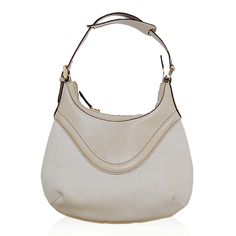 Gucci Ivory Leather & Canvas Hobo http://www.consignofthetimes.com/product_details.asp?galleryid=7440