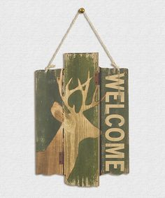zulily | something special every day Hunting Signs, Something Special, Pallet Projects, Welcome, Crow, Reindeer, Give It To Me, Rustic, Vintage