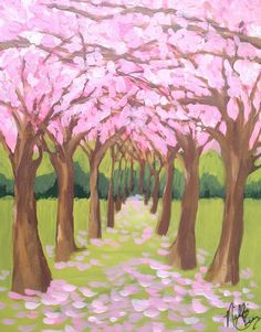 pink trees for spring