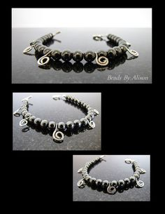 Haematite & silver charm bracelet    Gallery - Beads By Alison