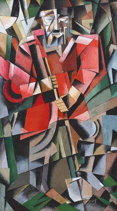 Ivan Kliun (Russian, Mujik, 1913 The grid shaped to communicate feeling. Cubist Drawing, Cubist Art, Russian Painting, Russian Art, Henri Matisse, Kandinsky, Futurism Art, Modern Art, Contemporary Art