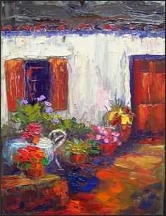 The Getaway Cottage, painting by artist Maryanne Jacobsen