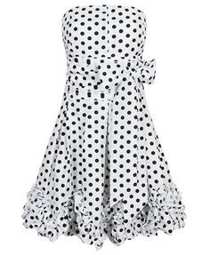 I love polka dots! This dress is adorable. Especially with a pink or red sweater. CUTE!