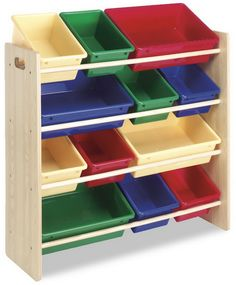 BEDROOM ORGANIZATION IDEAS - this works great for shoes and boots or other items in your closet--even for adults......Children's bedroom 12-Bin Organizer