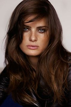 Isabeli Fontana By Alasdair Mclellan Warm Brown Hair Dark Coffee