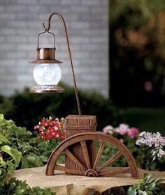 Ordinaire Solar Wagon Wheel Path Light Garden Decoration By Collections Etc