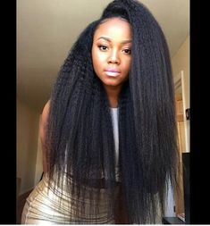 "Affordable luxury 100% virgin hair starting at $55/bundle in the USA. Achieve this look with our luxury line of Brazilian Yaki Straight hair extensions, available in lengths 12"" - 26"". www.vipextensionbar.com email info@vipextensionbar.com"