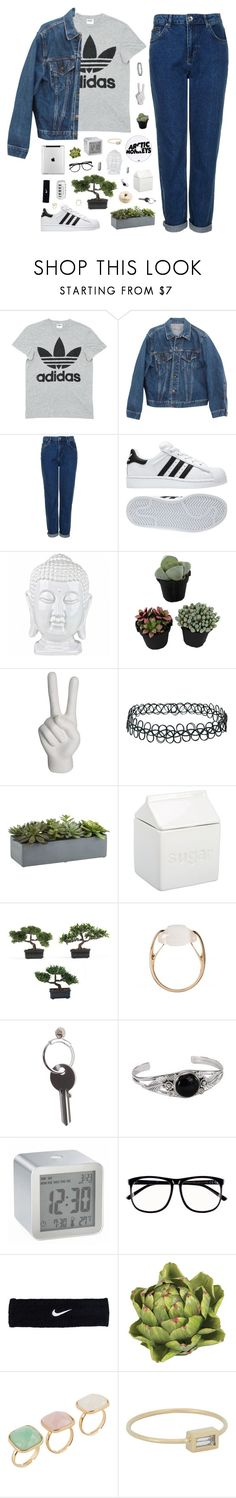 """Abigail"" by tamy55 ❤ liked on Polyvore featuring adidas, Levi's, Topshop, Noir, Crate and Barrel, BIA Cordon Bleu, Nearly Natural, Salvatore Ferragamo, Maison Margiela and LEXON"