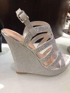99f0a1e6c Cute silver wedges Bridesmaid Shoes Wedges