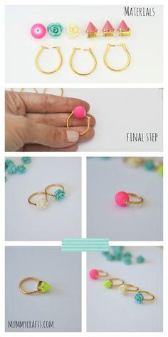 Cómo hacer anillos con abalorios