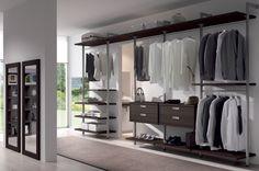 elegante armario vestidor en guinea con bastidores de aluminio, programa Nótt de muebles arasanz www.moblestatat.com horta-guinardó barcelona