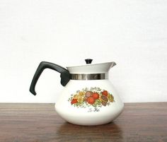 Vintage Tea Pot  Corning Ware 1972 Spice O' Life by PatinaCulture, $18.00