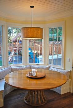 Kitchen bay window seat Design Ideas, Pictures, Remodel and Decor Kitchen Nook, House Design, Kitchen Window, Home, Window Seat Kitchen, New Homes, Kitchen Bay Window, Bay Window Seat, Window Seat Design