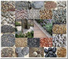 Piedras de río para decorar el jardín