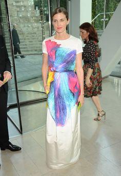 Jil Sander dress - makes me want to spray-tie-dye a t-shirt dress...hmm...