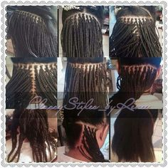 Next size to micro - Hairstyles Black Girl Braids, Braids For Black Hair, Girls Braids, Box Braids Hairstyles, My Hairstyle, Micro Braids Styles, Braid Styles, Individual Braids, Short Box Braids