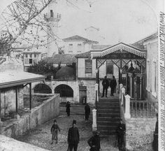 A street in Canea, Crete, and some of its Turkish possessors 1898