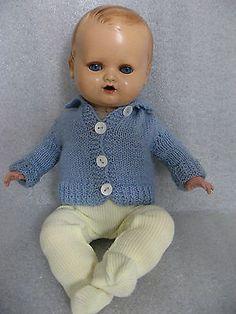 Antike Schildkrötbabypuppe blaue Augen 40ziger Jahre Sammlerstück!