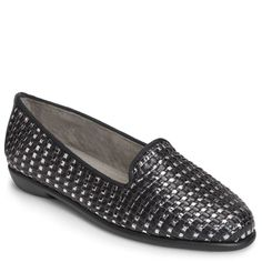 52b8f1545dd Aerosoles Women s Betunia Medium Wide Flat Shoes (Black Met Combo) - 11.0 W