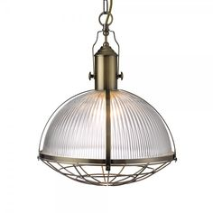 Searchlight 7601AB | Industrial 1 Light Ceiling Pendant Antique Brass
