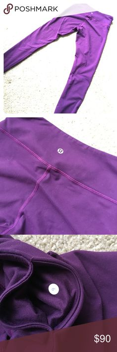 Lululemon wunder under Dark purple Workout leggings lululemon athletica Pants Leggings