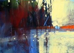 "Contemporary Painting - ""Lake Sunset"" (Original Art from tony allain)"