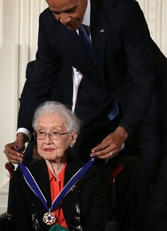 """American Patriot. Katherine Johnson: The Unsung, Black Female Mathematician for NASA, Who Sent Astronauts to Space. Known as 'The Human Calculator', this genius is in the 09/2016 issue of Vanity Fair. Astronaut John Glenn asked her to confirm the new COMPUTERS' answers, before he took his 1st lunar trip! Her """"computations have influenced every major space program from Mercury through the Shuttle. She even calculated the flight path for the first American mission space.""""-NASA.com ⭐"""