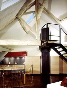 crazy exposed rafters