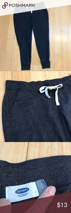 OLD NAVY gray joggers sweatpants, L. Dark gray joggers sweatpants, size large. Excellent condition with no flaws or signs of wear. Drawstring waist, inseam measures 29 inches. Front pockets. Excellent condition. Old Navy Pants Track Pants & Joggers