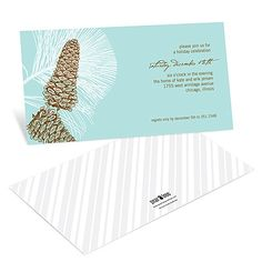Holiday Party Invitations -- Sketched Pinecones #peartreegreetings #partyinvitations
