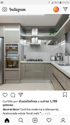 Moduler Kitchen, Kitchen Sets, Kitchen Decor, Kitchen Cabinets, Kitchen Ceiling Design, Kitchen Room Design, Interior Design Kitchen, Off White Kitchens, Modern Architecture House