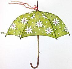 Cute Illustration, Watercolor Illustration, Susan Branch Blog, Best Girlfriend Ever, Spring Song, Branch Art, Spring Shower, Under My Umbrella, April Showers