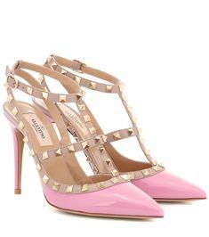 360468fd5ffc Valentino Garavani Rockstud leather pink pumps  Rockstud
