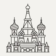 Nastya Yarovaya Line Sketch, Line Drawing, Colouring Pages, Coloring Books, Culture Day, Rhinestone Art, Drawing Exercises, Map Globe, Simple Icon